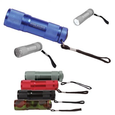 9 LED Metal Flashlight