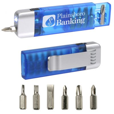 Clip-On Pocket Screwdriver Flashlight