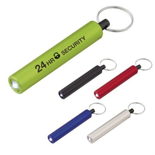 Mini Cylinder LED Flashlight Key Tag