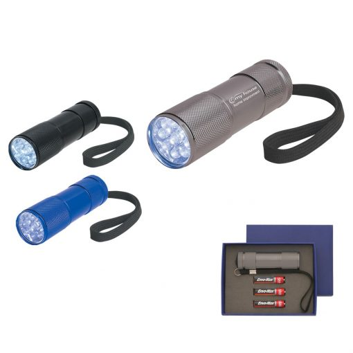 The Stubby Aluminum LED Flashlight With Strap
