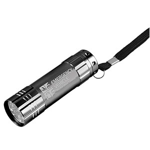 """Rocket"" 9 LED Aluminum Flashlight w/Hand Strap (Overseas)"
