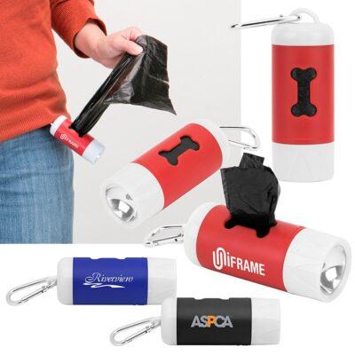 Poop & Light Waste Bag Dispenser w/LED Flashlight